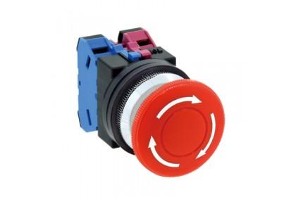 30mm TWND Series Pushbutton Mushroom Pushlock Turn Reset AVN311NR